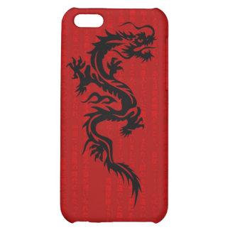 Caja roja de la mota del iPhone 4 4S del dragón