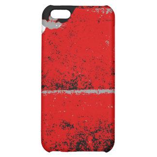 Caja roja de la mota del iphone 4 de las escaleras