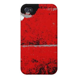Caja roja de la mota del iphone 4 de las escaleras iPhone 4 protector