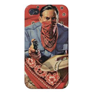 Caja roja de la mota del iPhone del ladrón iPhone 4 Fundas