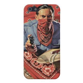 Caja roja de la mota del iPhone del ladrón iPhone 5 Fundas