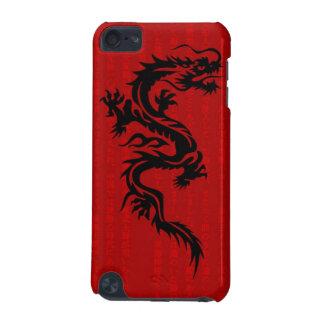 Caja roja de la mota del tacto de iPod del dragón