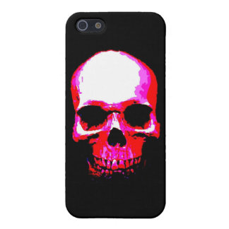 Caja roja de la piel del iPhone 4 del cráneo iPhone 5 Carcasa