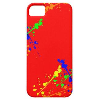 Caja roja de la salpicadura de la pintura iPhone 5 cárcasa