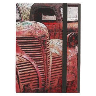 caja roja de los camiones del vintage