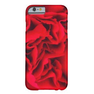 Caja roja de los Volantes-iPhone 6 del clavel Funda De iPhone 6 Barely There