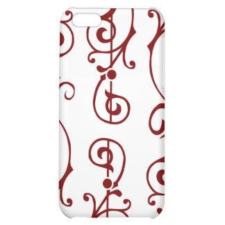 Caja (roja) de marfil del iPhone de la fibrilla