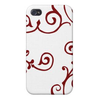 Caja (roja) de marfil del iPhone del cirro iPhone 4/4S Carcasas