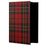 Caja roja de Powis del aire del iPad del tartán