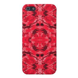 Caja roja de rubíes de Iphone 4/4S del tatuaje del iPhone 5 Fundas