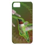 Caja roja de rubíes de Iphone 5 del colibrí y del  iPhone 5 Protectores