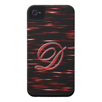Caja roja del adorno de la escritura del monograma Case-Mate iPhone 4 funda