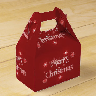 Caja roja del aguilón de las Felices Navidad Caja Para Regalos