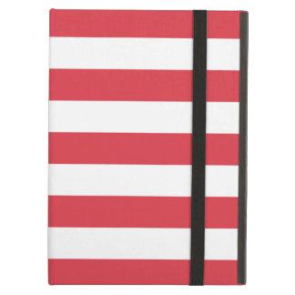 Caja roja del aire del iPad de las rayas
