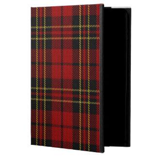 Caja roja del aire del iPad del tartán