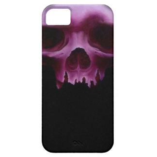 Caja roja del cráneo Iphone5 de RavensWood iPhone 5 Carcasas