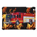 Caja roja del dispositivo del camión del bombero d iPad mini carcasas