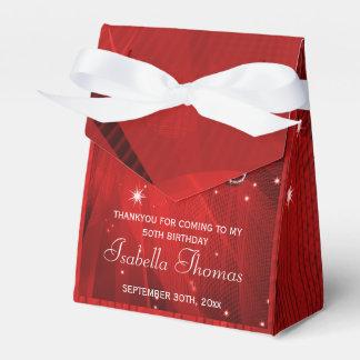 Caja roja del favor de los talones de la bola de d paquetes de regalo