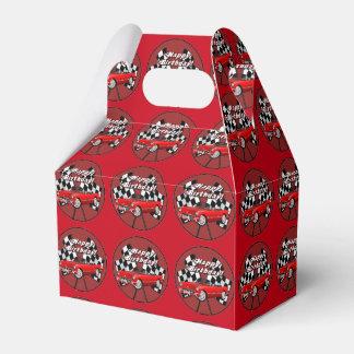 Caja roja del favor del coche de deportes del caja para regalos