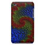 Caja roja del fractal de la onda para el tacto de iPod Case-Mate carcasa