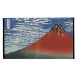 Caja roja del iPad 3 de Fuji del cielo del claro d