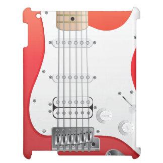 Caja roja del iPad de la guitarra eléctrica
