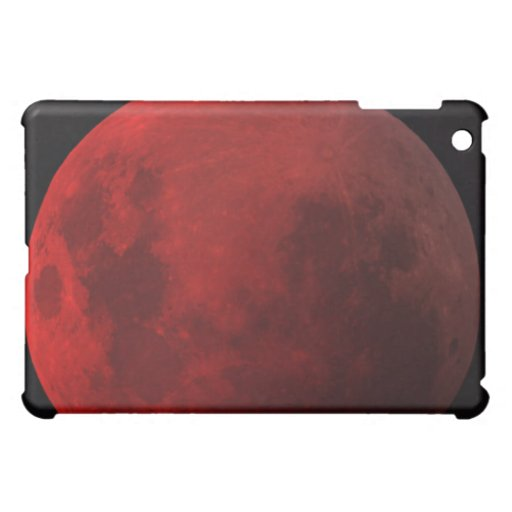 Caja roja del iPad de la luna del eclipse lunar