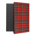 Caja roja del iPad de la tela escocesa del vintage iPad Funda