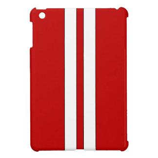 Caja roja del ipad de las rayas que compite con mi