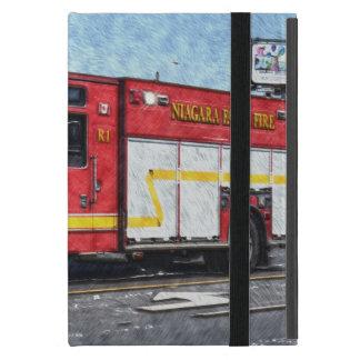 Caja roja del iPad del camión del bombero del coch iPad Mini Protectores