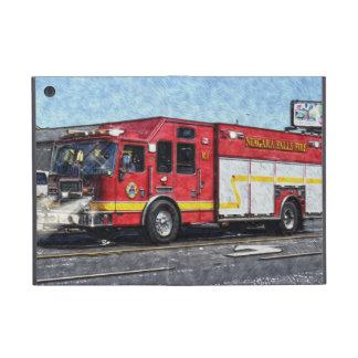 Caja roja del iPad del camión del bombero del coch iPad Mini Protector