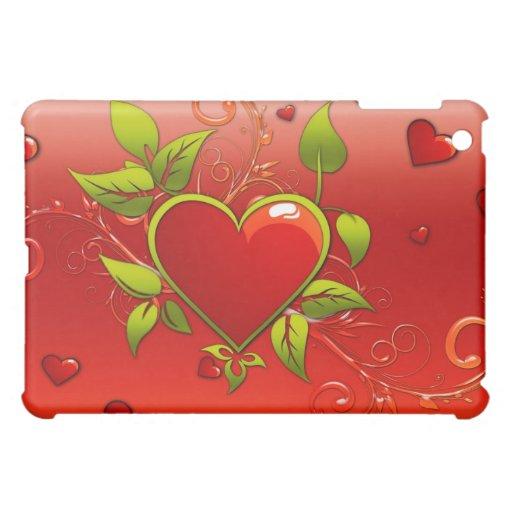 Caja roja del iPad del corazón