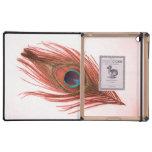 Caja roja del iPad del DODO de la pluma del pavo r iPad Protectores