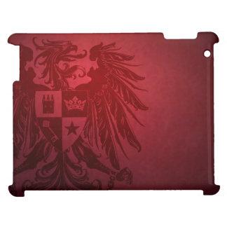 Caja roja del iPad del escudo de Eagle