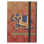 caja roja del iPad del iCase de Powis del elefante