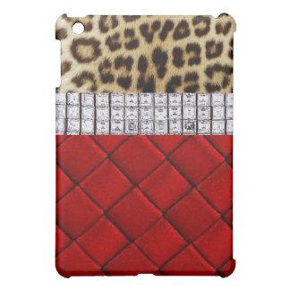 Caja roja del iPad del leopardo de la estrella del