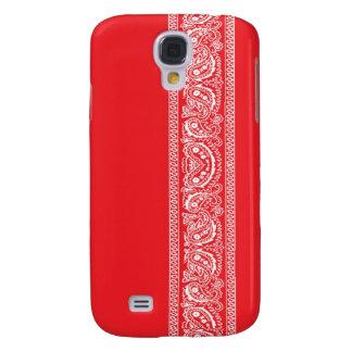 Caja roja del iPhone 3 del pañuelo de Paisley