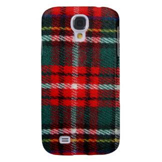 Caja roja del iPhone 3G de la tela escocesa