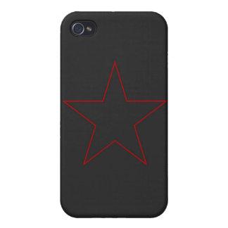 Caja roja del iPhone 4 4s de la estrella
