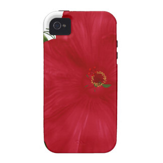 Caja roja del iPhone 4 4s de la flor del hibisco iPhone 4/4S Carcasas
