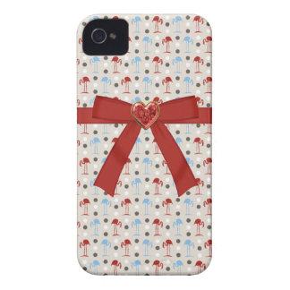 Caja roja del iPhone 4/4S de la joya del corazón d iPhone 4 Case-Mate Coberturas