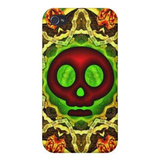 Caja roja del iphone 4 4S del cráneo iPhone 4 Carcasa