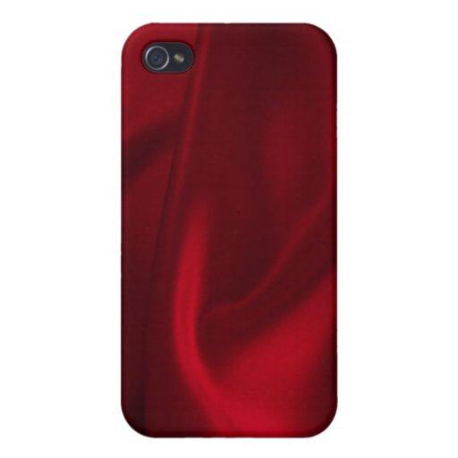 Caja roja del iPhone 4/4s del satén iPhone 4 Coberturas