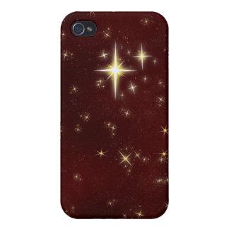 Caja roja del iPhone 4 de la estrella que desea 6 iPhone 4/4S Funda
