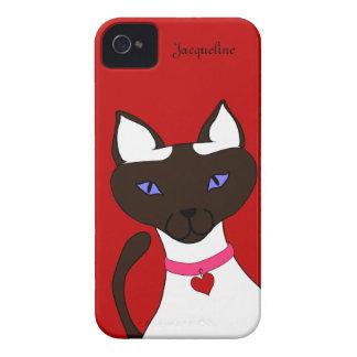 Caja roja del iPhone 4 de la plantilla de Moira Case-Mate iPhone 4 Coberturas