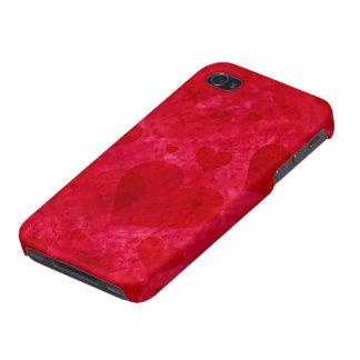 Caja roja del iPhone 4 de los corazones iPhone 4/4S Fundas