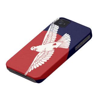 Caja roja del iPhone 4 de Sun iPhone 4 Protectores