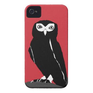 Caja roja del iPhone 4 del búho iPhone 4 Case-Mate Cárcasas