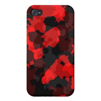 Caja roja del iPhone 4 del camuflaje iPhone 4 Cárcasa