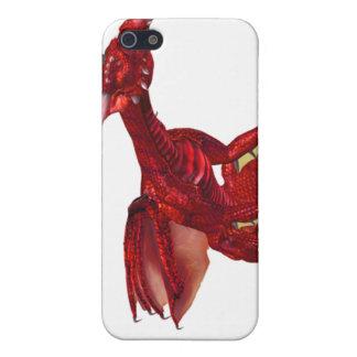 Caja roja del iPhone 4 del dragón iPhone 5 Fundas